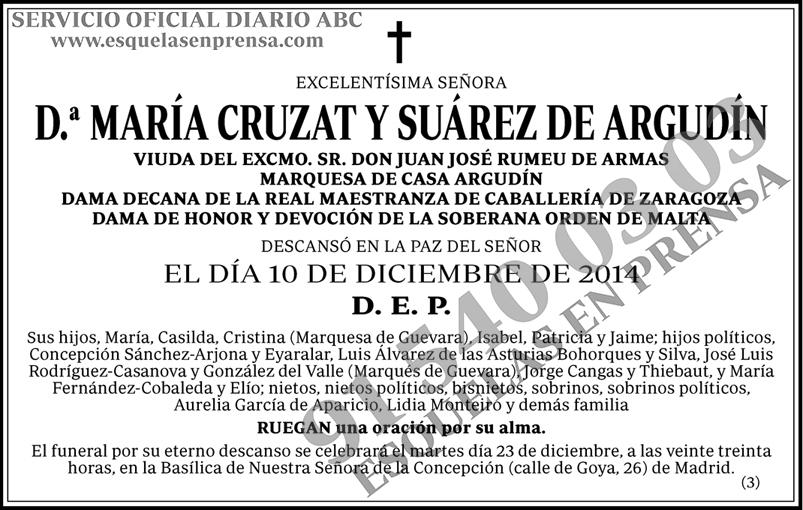 María Cruzat y Suárez de Argundín